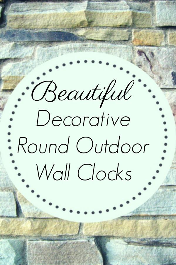 Decorative Round Outdoor Wall Clocks