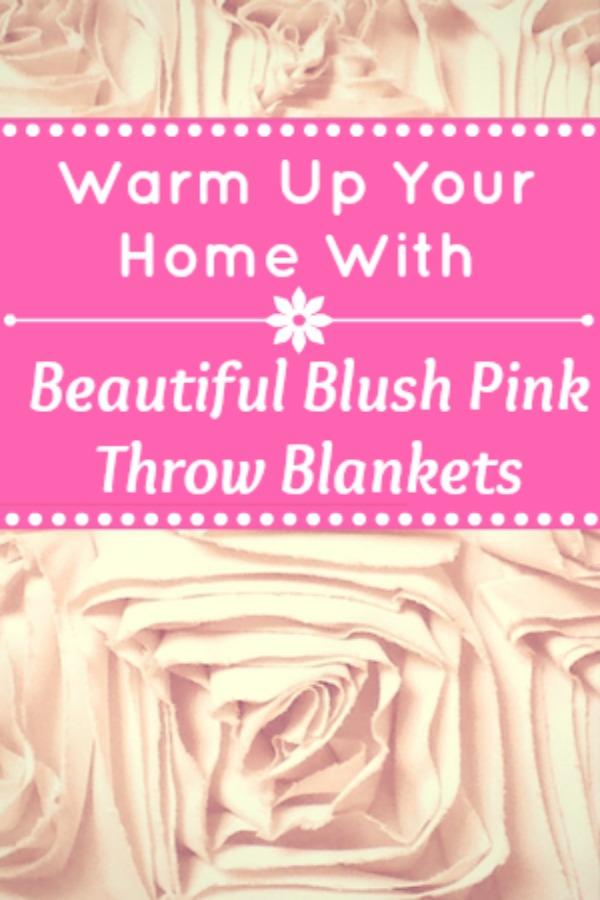 Beautiful Blush Pink Throw Blankets