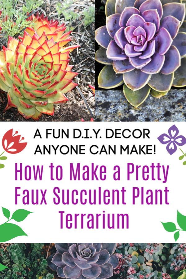 How to Make a Pretty Faux Succulent Plant Terrarium