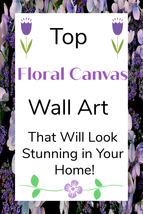 Top Floral Canvas Wall Art