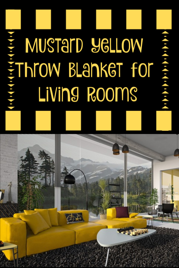 Mustard Yellow Throw Blankets for Living Rooms