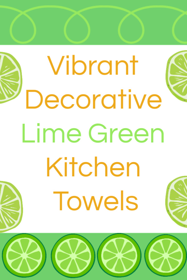 Vibrant Decorative Lime Green Kitchen Towels | My Snazzy Finds