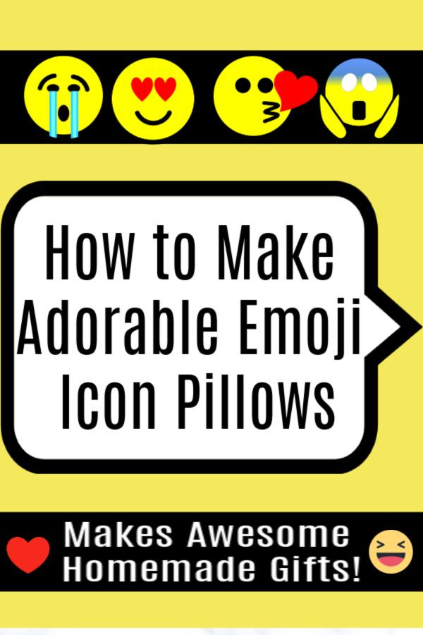 How to Make Adorable Emoji Icon Pillows