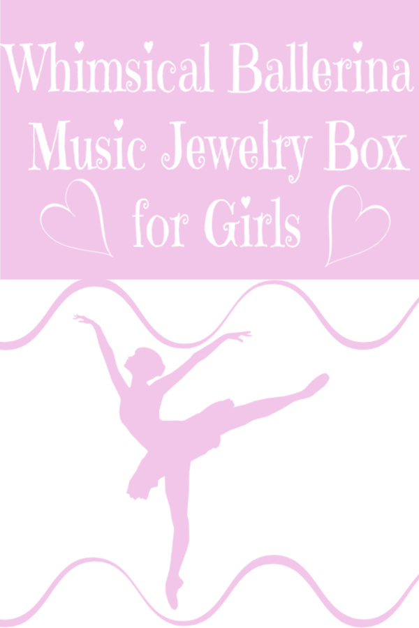 Whimsical Ballerina Music Jewelry Box