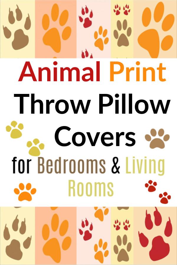 Animal Print Throw Pillow Covers